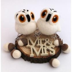 Mini Owl Wedding Cake Topper
