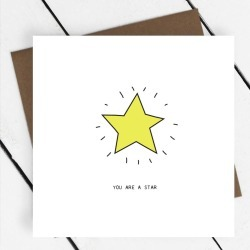 'You Are A Star' Greeting Card