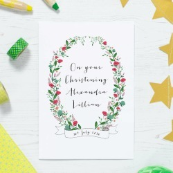 Personalised Christening Or Baptism Card