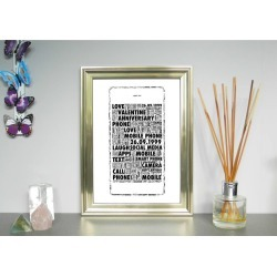 Mobile Phone Personalised Print