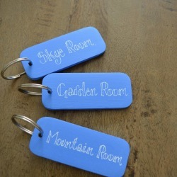 Double Sided Personalised Key Ring
