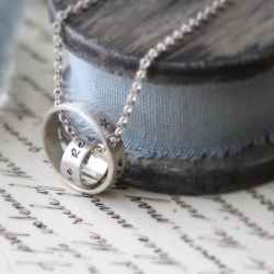 Personalised Double Ring Lunar Necklace found on Bargain Bro UK from Notonthehighstreet.com for $157.39