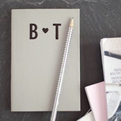 Hope House Press Initials Notebook For Two, Handmade Leather Notebook