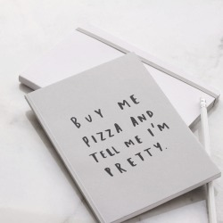 Buy Me Pizza A5 Notebook