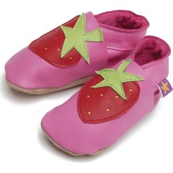 Soft Leather Baby Shoes Strawberry