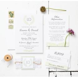 Grecian Pastels Wedding Invitation Set