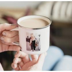 Personalised Photo Enamel Mug