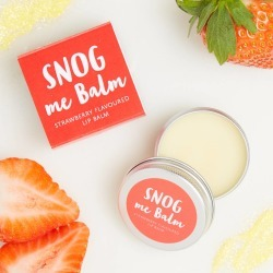 Snog Me Balm Strawberry Flavoured Lip Balm found on MODAPINS from Notonthehighstreet.com for USD $7.49