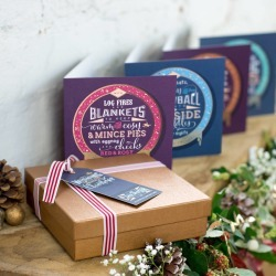 Luxury Foiled Christmas Cards And Gift Box found on Bargain Bro UK from Notonthehighstreet.com for $13.37