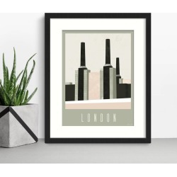 Battersea Power Station London Print