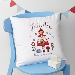 Girls Personalised Little Red Riding Hood Cushion