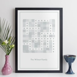 Personalised Anniversary Crossword Print