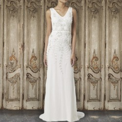 Floral Embroidered Bridal Gown