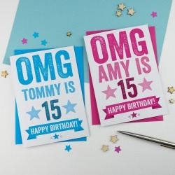 Personalised 15th Birthday Card