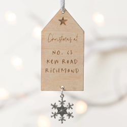 Personalised Family Christmas At Decoration