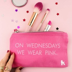 On Wednesdays Wear Pink Make Up Bag found on Bargain Bro UK from Notonthehighstreet.com for $12.59