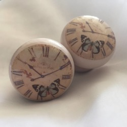 Surface Candy Butterfly Clock Mortice Door Drawer Cupboard Knob