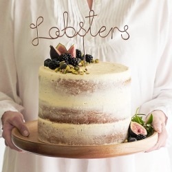 Lobsters Wire Wedding Cake Topper