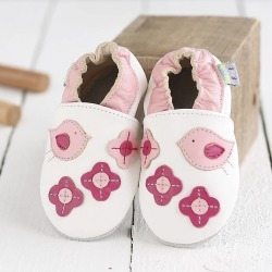 Birds Soft Leather Baby Shoes