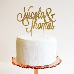 Personalised Name Wedding Cake Topper