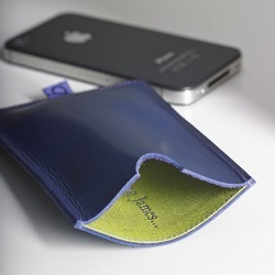 Personalised Leather Case For iPhone found on Bargain Bro UK from Notonthehighstreet.com for $40.29