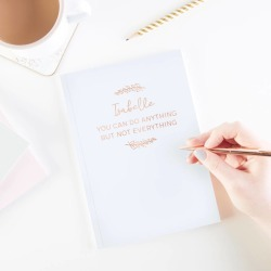 Motivational Personalised Foil Notebook