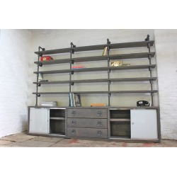 Luigi Reclaimed Scaffolding Cupboard Unit With Shelves found on Bargain Bro UK from Notonthehighstreet.com