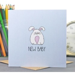 Neon Magpie New Baby Card