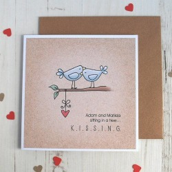 Kissing Personalised Valentine's Card