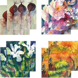 Eight Fine Art Watercolour Gift Cards Pack D found on Bargain Bro UK from Notonthehighstreet.com for $19.45