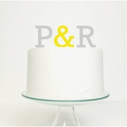 Initials With Ampersand Cake Topper