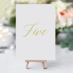 Elegant Gold Table Numbers