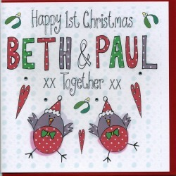 Personalised Ist Christmas Together Card