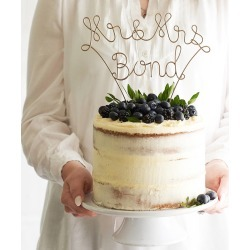 Mr And Mrs Surname Wedding Cake Topper