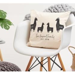 Llama Personalised Family Cushion