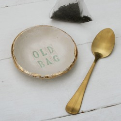 Old Bag Tea Bag Saucer found on Bargain Bro UK from Notonthehighstreet.com for $12.16