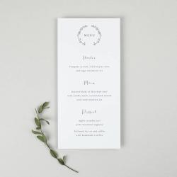 Delicate Laurel Wedding Menu Card