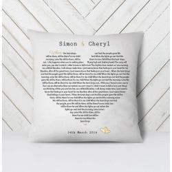 Song Lyrics Cushion