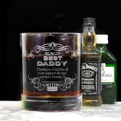 Personalised Whiskey Tumbler For Dad found on Bargain Bro UK from Notonthehighstreet.com