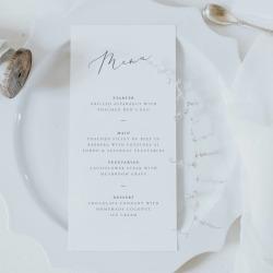 Alice Dinner Menu Card
