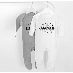 Star Names Personalised Baby Grow