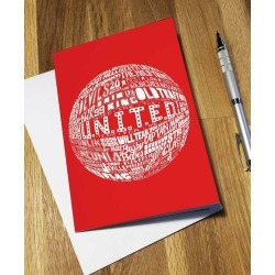 Manchester United Greetings Card