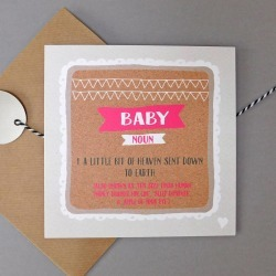Funny New Baby Girl Card