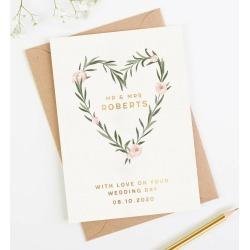 Wedding Card Gold Foil