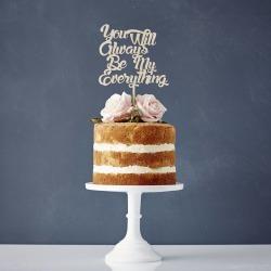 Personalised Song Lyrics Wooden Wedding Cake Topper