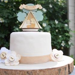 Personalised Camping Wedding Cake Topper