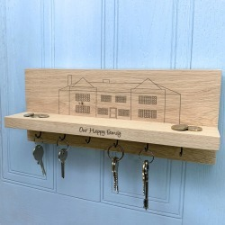 Personalised Mansion House Key Holder