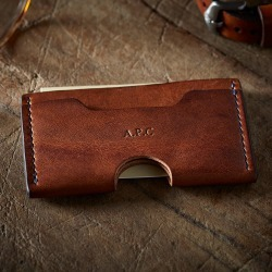 Personalised Men's Leather Card Holder