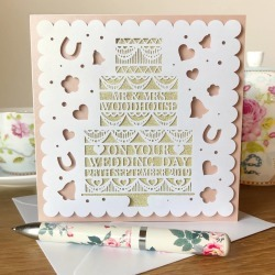 Personalised Wedding Day Papercut Card