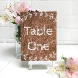 Woodland Table Number Or Name Cards